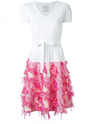 Вязаное платье Ingie Paris. Цвет: белый