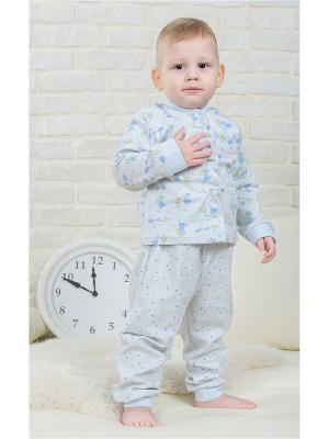 Пижама Веселый малыш. Цвет: голубой,светло-голубой,светло-желтый