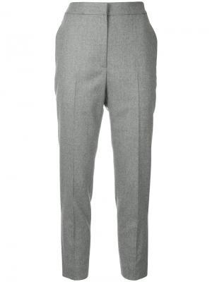 Укороченные брюки H Beauty&Youth. Цвет: серый