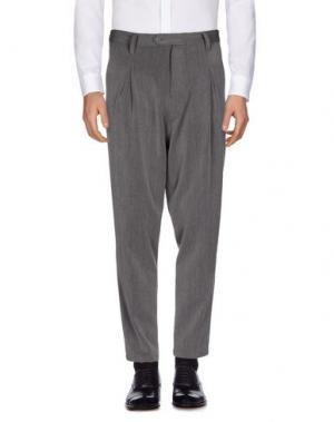 Повседневные брюки REVERES 1949. Цвет: свинцово-серый