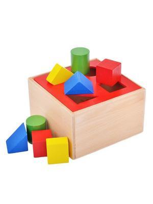 Ящик с фигурами Винтик и Шпунтик. Цвет: красный, бежевый, зеленый, синий
