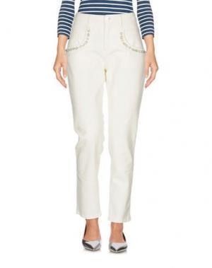 Джинсовые брюки MYF. Цвет: слоновая кость