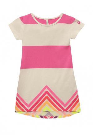 Платье United Colors of Benetton. Цвет: бежевый