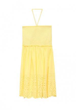 Платье Blukids. Цвет: желтый