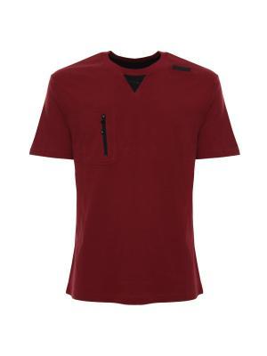 Футболка Freddy. Цвет: бордовый