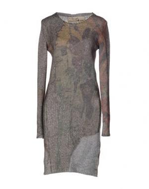 Короткое платье DAPHNE. Цвет: серый