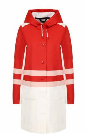 Пальто свободного кроя с капюшоном Marni. Цвет: красный