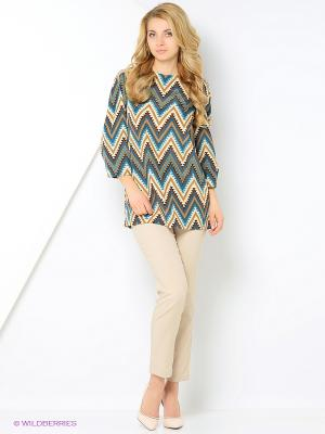 Блузка YUVITA. Цвет: зеленый