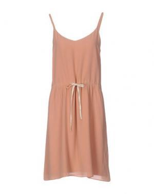 Платье до колена DES PETITS HAUTS. Цвет: телесный