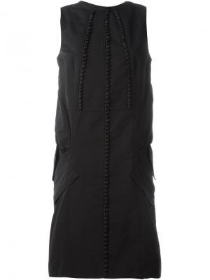 Платье без рукавов Antonio Berardi. Цвет: чёрный