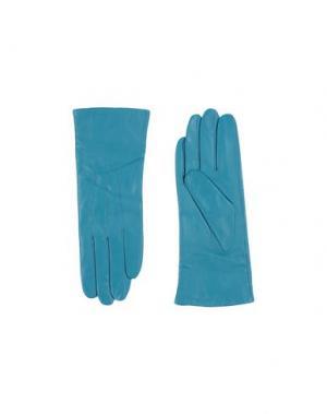Перчатки PIA ROSSINI. Цвет: бирюзовый