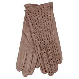 Перчатки  PERFO TRESSE коричнево-розовый AGNELLE