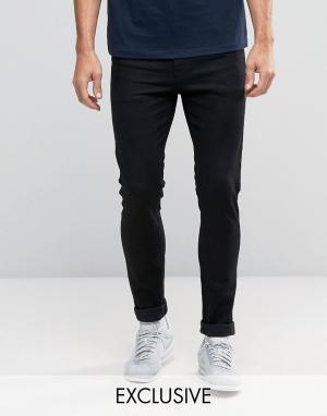 Noak Черные супероблегающие джинсы. Цвет: черный