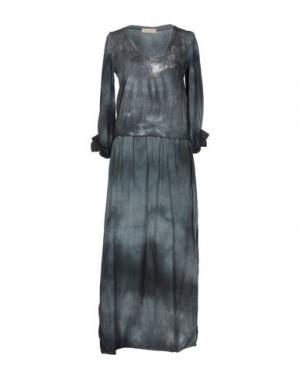 Длинное платье MONICA •LENDINEZ. Цвет: свинцово-серый