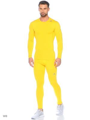 Лонгслив Adidas. Цвет: желтый
