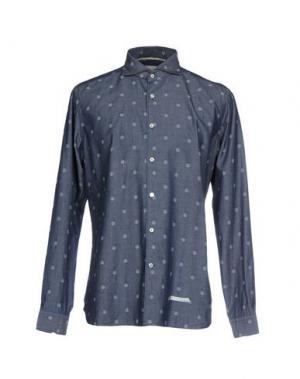 Джинсовая рубашка TINTORIA MATTEI 954. Цвет: синий