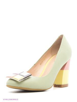 Туфли Moda Donna. Цвет: зеленый