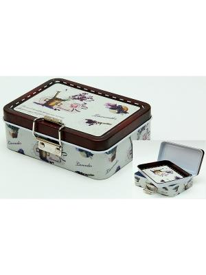 Коробка для безделушек и мелочей Лаванда Magic Home. Цвет: белый