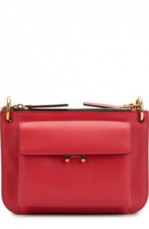 Двухцветная сумка Pocket Marni. Цвет: красный