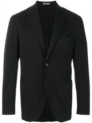 Классический пиджак Boglioli. Цвет: чёрный