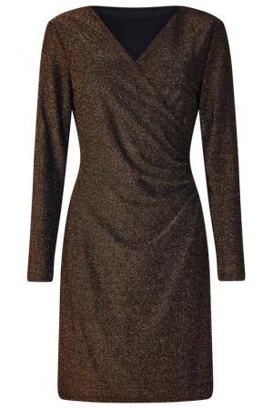 Платье Iska. Цвет: gold