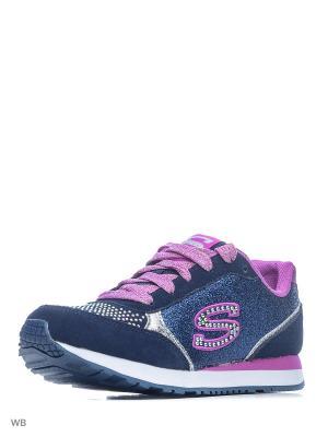 Кроссовки SKECHERS. Цвет: темно-синий, фиолетовый