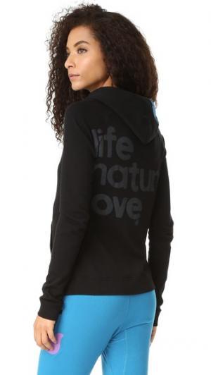 Пуловер с капюшоном Life Nature Love FREECITY. Цвет: синий механизм