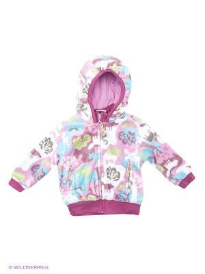 Толстовка Baby Club. Цвет: сиреневый, бледно-розовый, белый, фиолетовый, серый