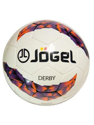 Мяч футбольный Jogel JS-500 Derby №3. Цвет: сиреневый, оранжевый, черный