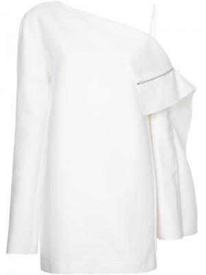 Платье с откидными панелями Dion Lee. Цвет: белый