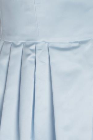 Однотонное платье Natalia Valevskaya. Цвет: голубой