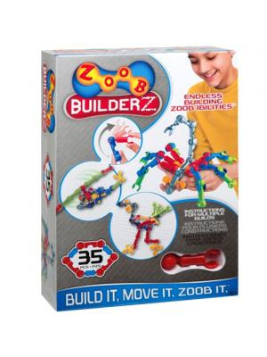 Подвижный конструктор на 35 деталей ZOOB 11035. Цвет: желтый, зеленый, красный, серый, синий