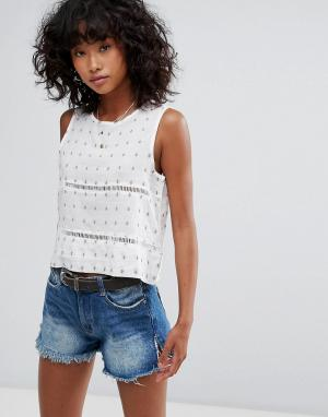 D.RA Укороченная блузка Selma. Цвет: белый