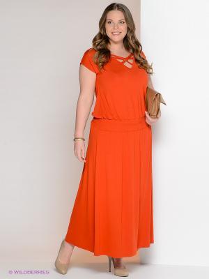 Платье МадаМ Т. Цвет: оранжевый