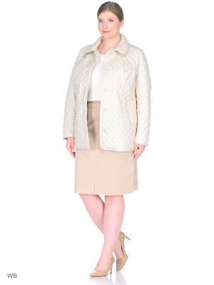Куртка Modress. Цвет: молочный