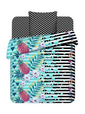Комплект постельного белья для подростков Василиса. Цвет: черный, бирюзовый