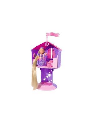 Еви с длинными волосами в сказочной башне, 12 см., 32 см.,6/12 Simba. Цвет: фиолетовый, розовый