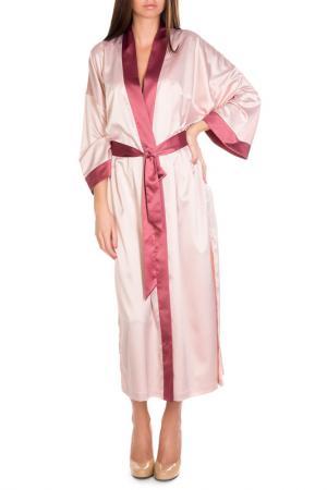 Халат Rose&Petal Homewear. Цвет: персиковый, розовато-лиловый