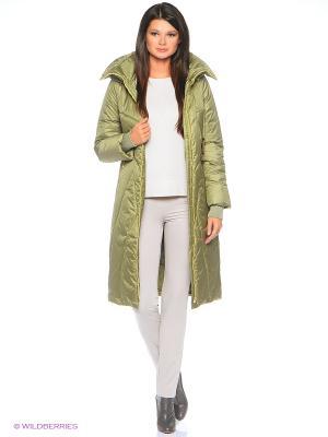 Стеганое пальто D`imma. Цвет: зеленый