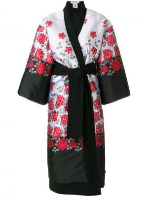 Пальто с цветочной вышивкой Stefano Mortari. Цвет: серый