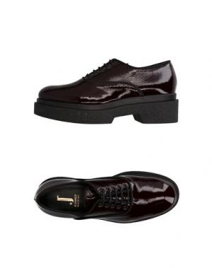 Обувь на шнурках JEANNOT. Цвет: баклажанный