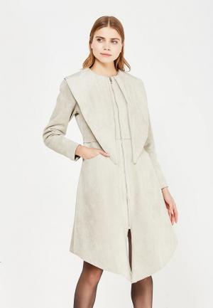 Пальто Sahera Rahmani. Цвет: серый