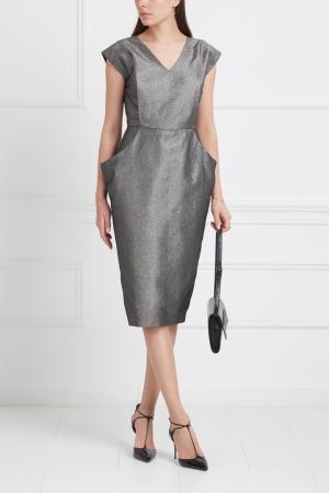 Однотонное платье VIKTORIA IRBAIEVA. Цвет: серый