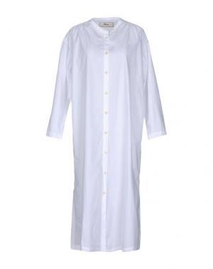 Платье длиной 3/4 PENCE. Цвет: белый