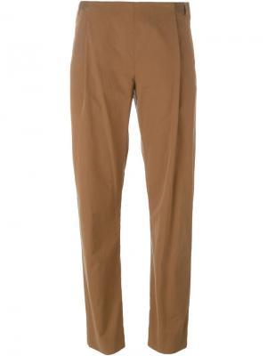 Укороченные брюки Stephan Schneider. Цвет: коричневый