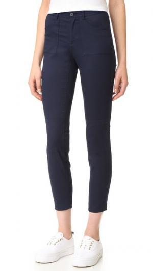Байкерские брюки из эластичного твила ATM Anthony Thomas Melillo. Цвет: полночный