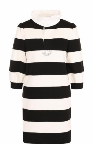 Мини-платье с контрастную полоску Marc Jacobs. Цвет: черный