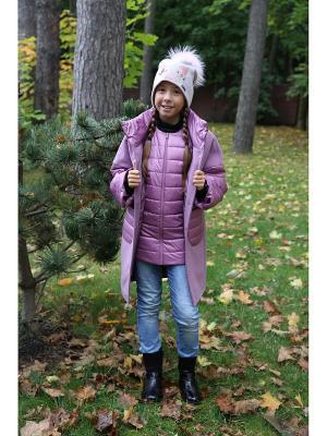 Пальто с жилетом MARIELA. Цвет: фуксия