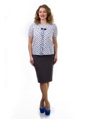 Блузка Liza Fashion. Цвет: белый