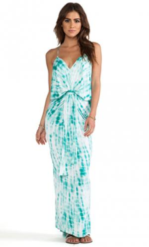 Платье-макси T-Bags LosAngeles. Цвет: бирюзовый